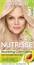 Garnier Nutrisse Nourishing Hair Color Creme, 111 Extra-Light Ash Blonde (White Chocolate) (Packaging May Vary)