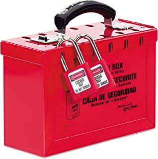 Master Lock 498A Latch Tight Portable Lock Box, Red