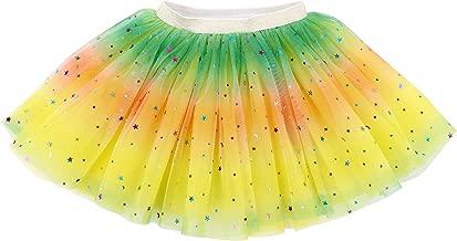 تنورة توتو للفتيات من Lullaby مكونة من 4 طبقات بتصميم قوس قزح لامع