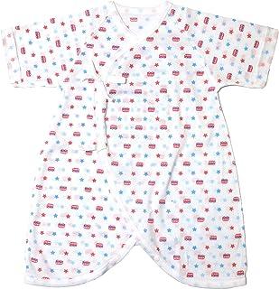 [trust map] 日本製 新生児用 赤ちゃん 肌着 50-60 [コンビ肌着 短肌着 綿100% ベビー服] (コンビ肌着:バス)