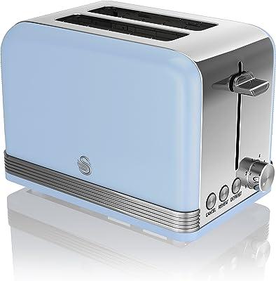 Swan ST19010BLN 2-Slice Retro Toaster, 815 W, Blue