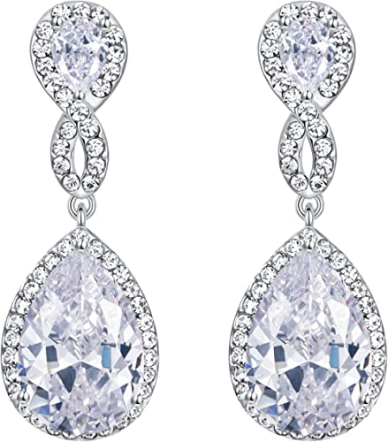 Clip On Earrings Carissa antique silver chandelier earring with crystals