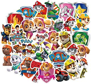 CatalogueOfKings 50Pcs PAW Dog Patrol Waterproof Stickers for Laptop Stickers Motorcycle Bicycle Skateboard Luggage Decal Graffiti Patches Stickers