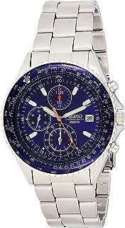 Seiko Men`s SND255P1 Flightmaster Pilot Slide Rule Chronograph Watch