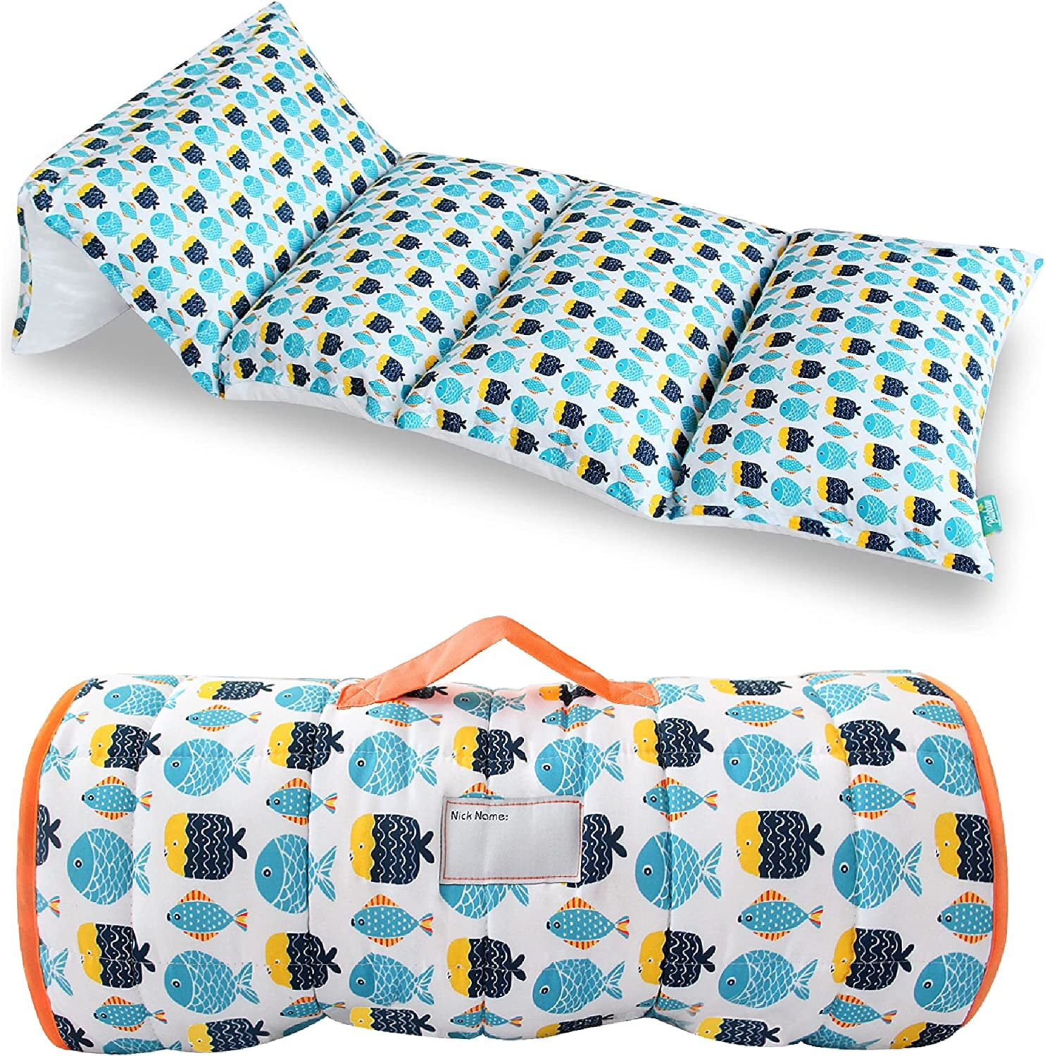 Toddler Nap Mat High material 5 Pillow Sleepover for Cover Fish Fashionable