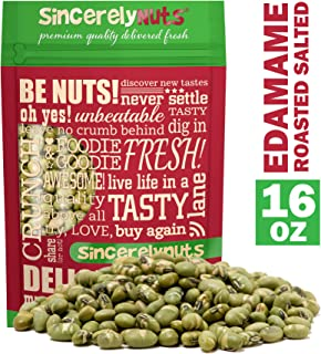 Sincerely Nuts Dried Edamame (Roasted, Salted) - (1 LB) Vegan, Kosher & Gluten-Free Food - Plant-Based Protein - Add to Granola, Salads, Trail Mix, Ice Cream, and Much More