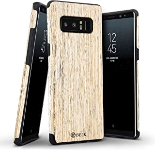 Galaxy Note 8 Case, B BELK [Air to Beat] Non Slip [Slim Matte] Wood Grip Rubber Bumper [Ultra Light] Soft TPU Back Cover, Premium Smooth Wooden Shell for Samsung Galaxy Note 8-6.3 inch, Birch