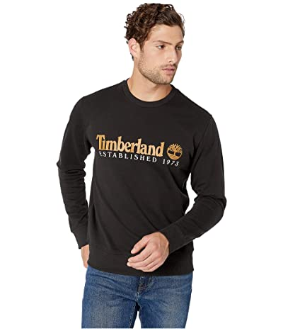 Timberland Essential Established 1973 Crew Sweater (Black/Wheat Boot) Men