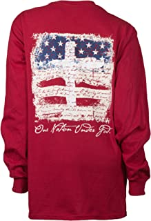 SC Classic One Nation Under God Longsleeve Classic Fit Adult T-Shirt - Cardinal Red