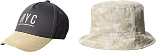 Sonemone Toddler Kids Boy 2 Pack Baseball Cap Bucket Hat