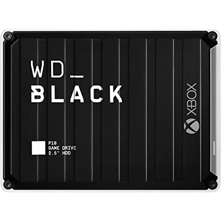 WD_BLACK 5TB P10 Game Drive for Xbox - Portable External Hard Drive HDD with 1-Month Xbox Game Pass - WDBA5G0050BBK-WESN