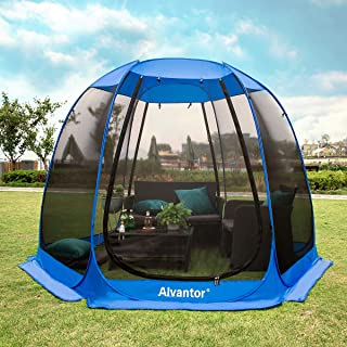 Alvantor Screen House Room Outdoor Camping Tent Canopy Gazebos 8-20 Person for Patios, Instant Pop Up Tent
