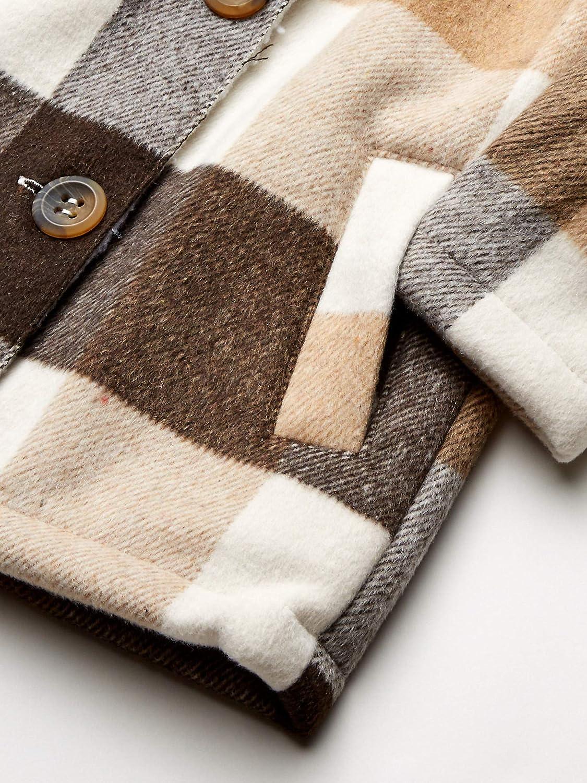 Kensie Girls Outerwear girls Plaid Wool Sherpa Jacket