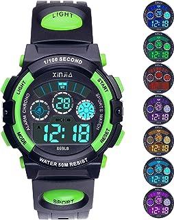 Kids Digital Watch, Boys Girls 50M(5ATM) Waterproof 7...