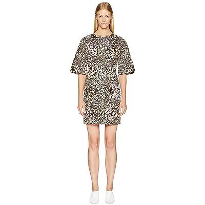 Adam Lippes Leopard Cotton Sculpted Mini Dress (Multi) Women