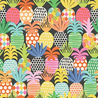 Pineapple Pop – Holiday Gift Wrap Paper – 30 Inch x 10 Foot – Folded Flat Sheet - Premium Quality - Made in Italy
