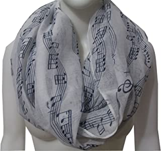 Special Beauty Nice New Fashion White Navy Music Note Sheet Music Piano Notes Script Print Scarves Infinity Scarf