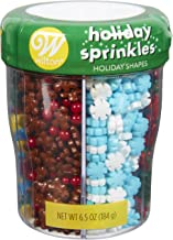 Holiday Shapes Sprinkles (red, green, white, blue, brown)