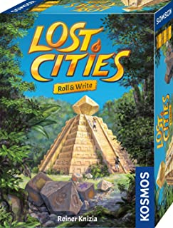 Lost Cities: Roll & Write   A Family Friendly Game from Kosmos Games  by Reiner Knizia   for 2 to 5 Players, Ages 8 and up