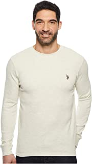 Men's Long Sleeve Crew Neck Solid Thermal Shirt