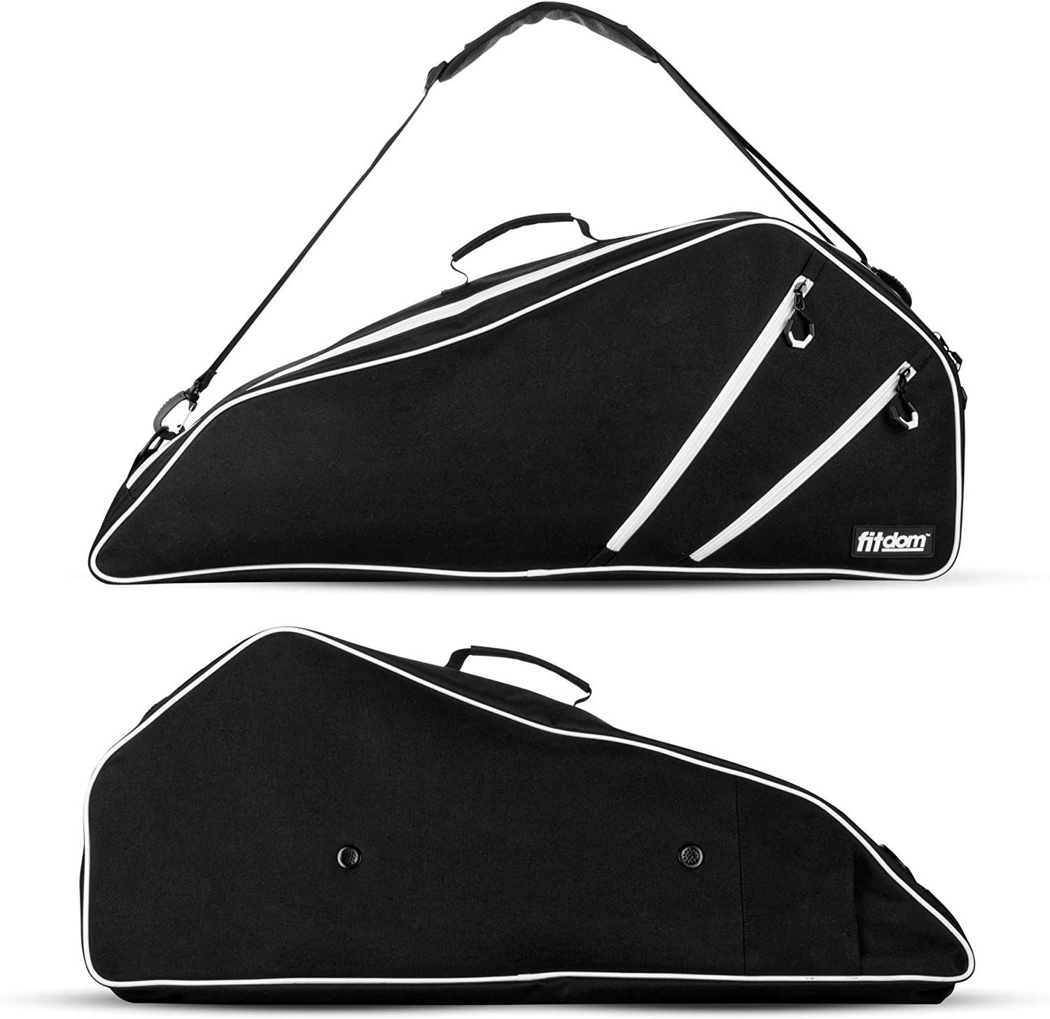 Fitdom Black Tennis Racket Bag - Can Carry Popular Per Up Ranking TOP16 to 3 Racquets.