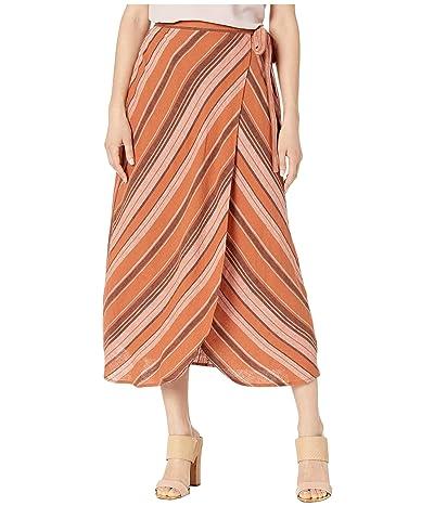 Sanctuary Catching Rays Faux Wrap Skirt (Sierra Stripe) Women