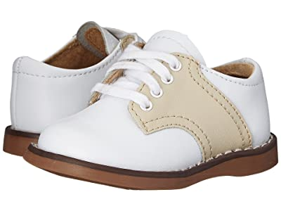 FootMates Cheer 3 (Infant/Toddler/Little Kid) (White/Ecru) Kids Shoes