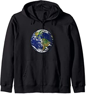 Planet Earth for Kids, Men, and Women Solar System Planet Zip Hoodie