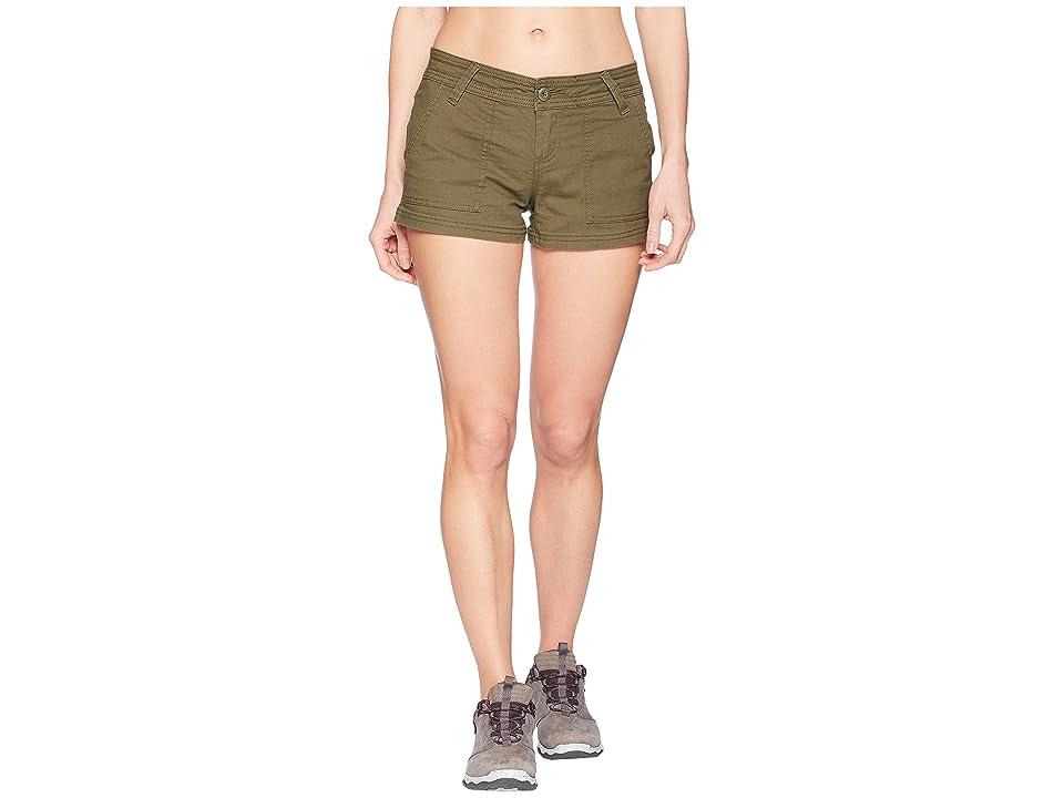 Prana Tess Shorts 3 (Cargo Green) Women