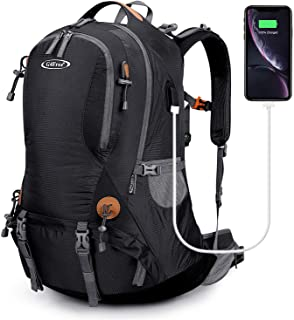 G4Free 50L Hiking Backpack Waterproof Daypack Outdoor Camping Climbing Backpack with Rain Cover for Men Women
