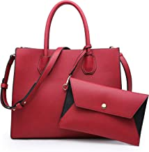 Dasein Purses and Handbags for Women Satchel Bags Top Handle Shoulder Bag With Matching Wallet