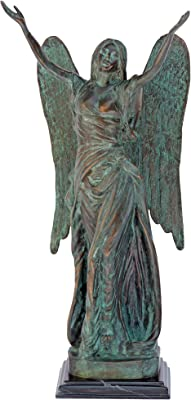 Design Toscano Ange céleste Statue de Jardin, Bronze, 25,5 x 15 x 45,5 cm
