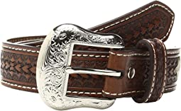 M&F Western - Rawhide Lacing Silver Concho Belt (Little Kids/Big Kids)