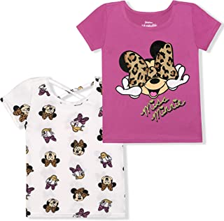 Disney Girl's 2 Pack Minnie Mouse Short Sleeves Tee Shirt Set