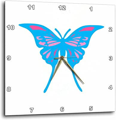 3dRose Alexis Design - Butterfly - Design of a swallow tail blue and pink decorated butterfly