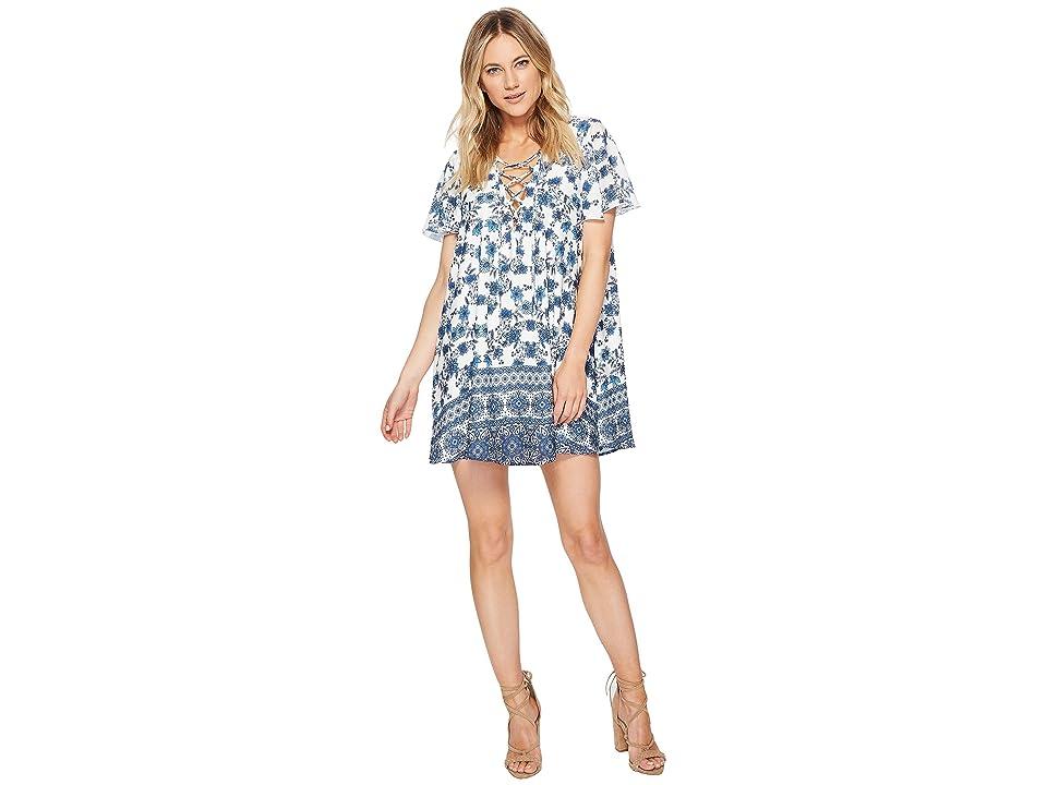 Show Me Your Mumu Kylie Lace-Up Dress (Casablanca Blues) Women