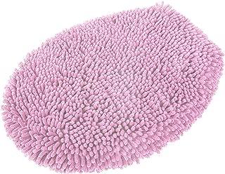 MAYSHINE Seat Cloud Bath Washable Shaggy Microfiber Standard Toilet Lid Covers for Bathroom -Pink