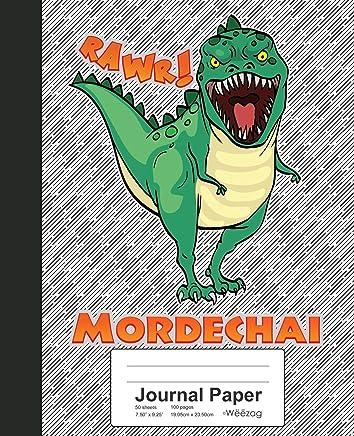 Journal Paper: MORDECHAI Dinosaur Rawr T-Rex Notebook