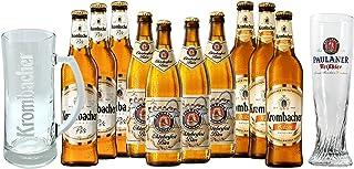 Las Mejores Alemanas: Krombacher Weizen 3 botellas de 500 ml cada una, Paulaner Oktoberfest 4 botellas de 500 ml cada una,...
