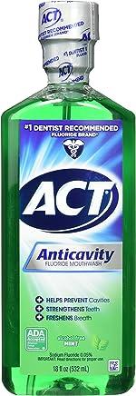 ACT Alcohol Free Anticavity Fluoride Rinse, Mint - 18 oz - 2 pk