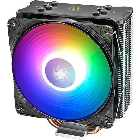 DeepCool Gammaxx GT ADD-RGB Dissipatore per CPU 4 Heatpipes Ventola PWM da 120 mm Addressable 5V 3-Pin Compatibile per CPU Intel 1155 1151 1150 1366 2011 2066 e AMD AM4 AM3+ AM3 AM2+ AM2 FM2+ FM2 FM1
