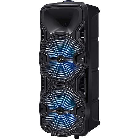 Sytech Altavoz Serie powerwind, 2x8, 20w. rms, Recargable, BT, Mic, USB, MD