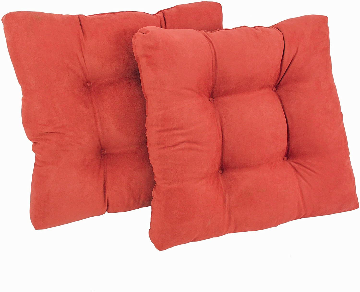Blazing Needles Microsuede Special price Square cheap Dining Cushions Chair Tufted