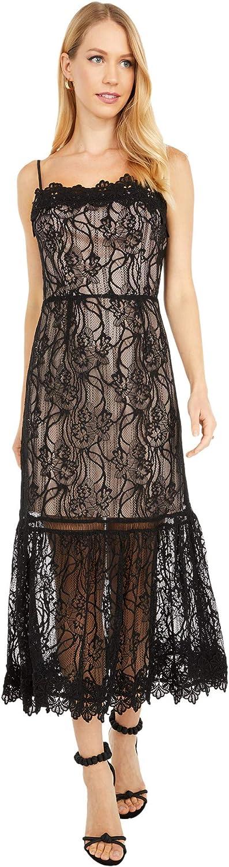 BB DAKOTA Women's Face Novelty Lace Midi Dress