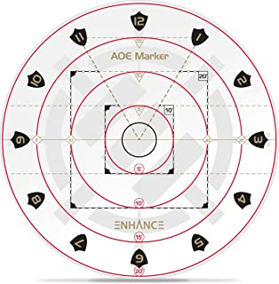 """ENHANCE Spell AOE Damage Marker for Tabletop RPG Games - D&D Area of Effect Template Quickly Determines Spell Effects on 1"""" Grid Battle Maps or Grid-Less Mat Play - DND Accessories Perfect for DM's"""