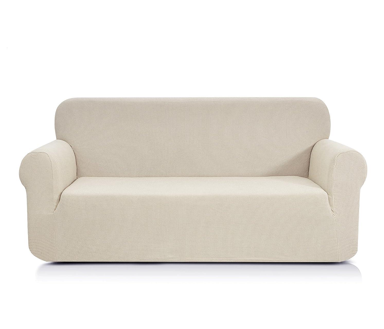 弱まる維持到着する(Sofa, Ivory White) - CHUN YI Jacquard Sofa Covers 1-Piece Polyester Spandex Fabric Slipcover (Sofa, Ivory white)