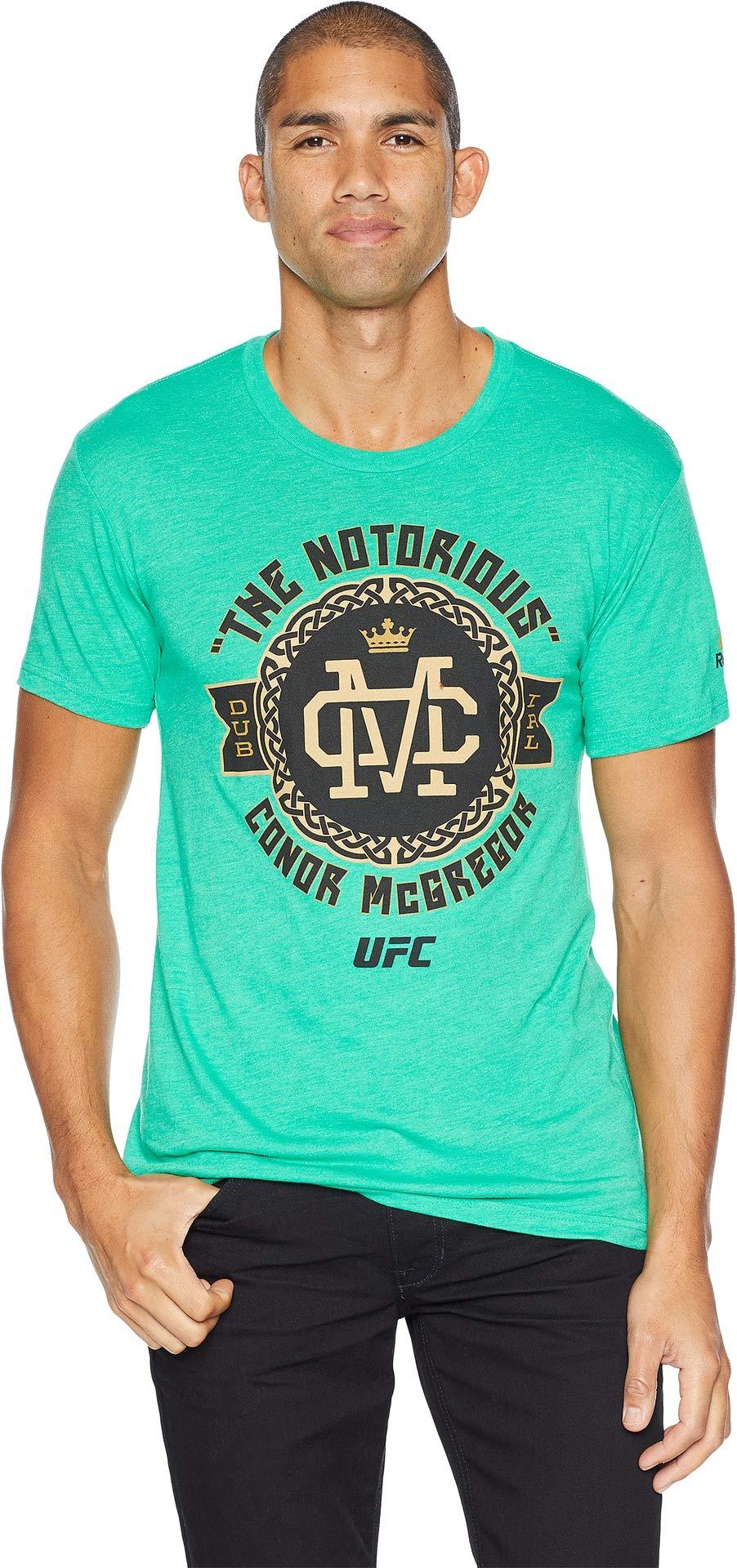 Reebok UFC Conor Mcgregor - Camiseta de Manga Corta para Hombre, Manga Corta, UFC Conor Mcgregor - Camiseta de Manga Corta con Insignia Celta, Hombre, Color Verde, tamaño Large: Amazon.es: Deportes y