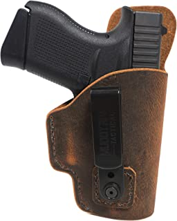 Muddy River Tactical Springfield Armory XDS 3.3 Inside The Waistband (IWB) Leather Holster - Water Buffalo Leather - Tuckable Belt Clip - Made in USA - Concealed Carry Holster - IWB Leather Holster