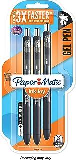 Paper Mate InkJoy Gel Pens, Fine Point, Black, 3 Count