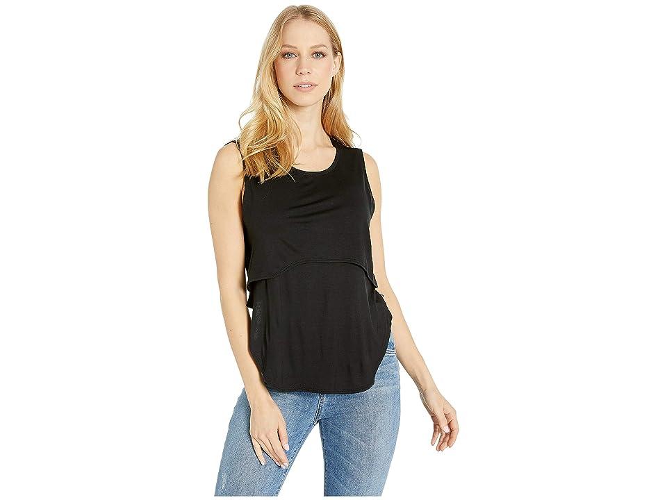 Body Language Silva Tank Top (Black) Women's Clothing